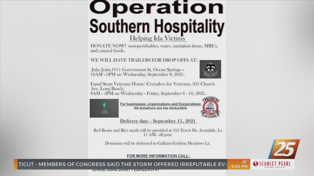 Operation Southern Hospitality Donating To Hurricane Ida Relief Efforts