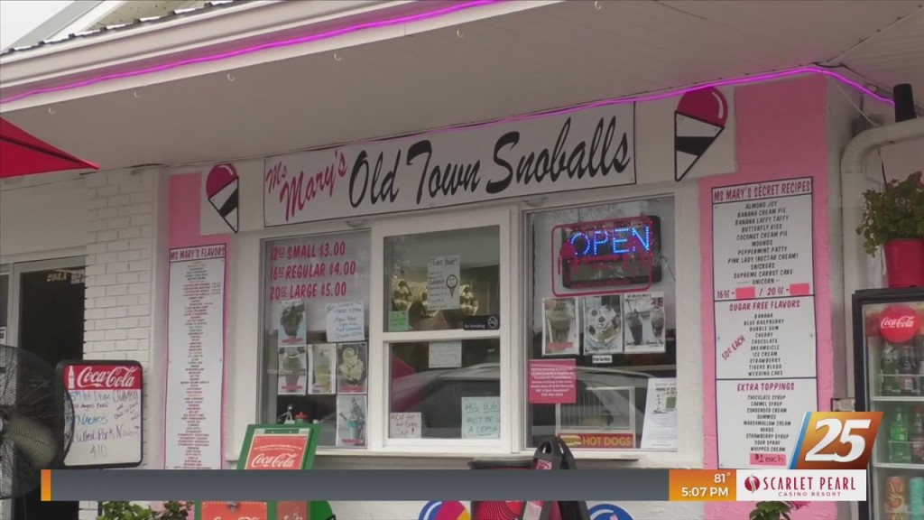 Ms. Mary's To Bring Snoballs And Supplies To Louisiana