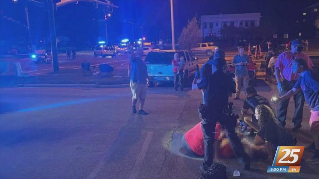 Spectator Shot On Roadside At Cruisin' The Coast