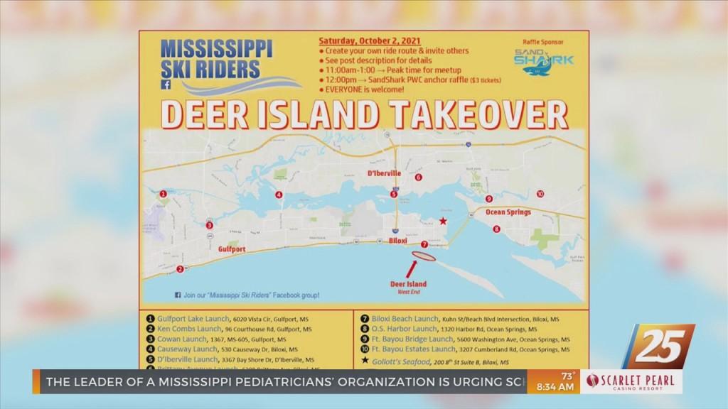 Jet Skiers Take Over Deer Island