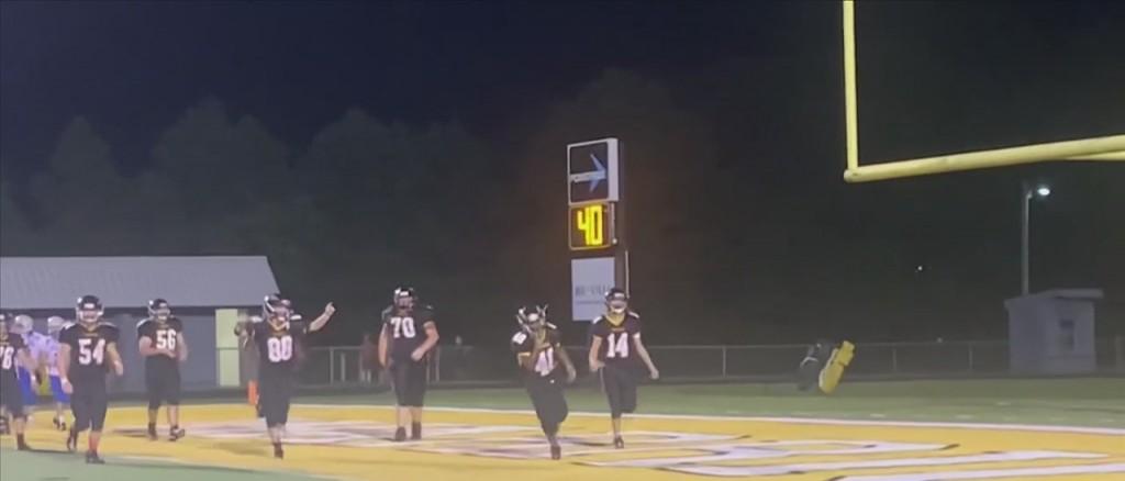 D'iberville Middle School Special Needs Teen Scores First Touchdown