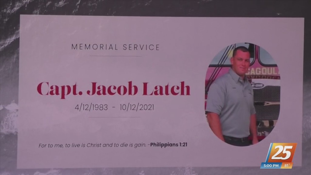 Funeral Service Held For Pascagoula Fire Captain Jacob Latch