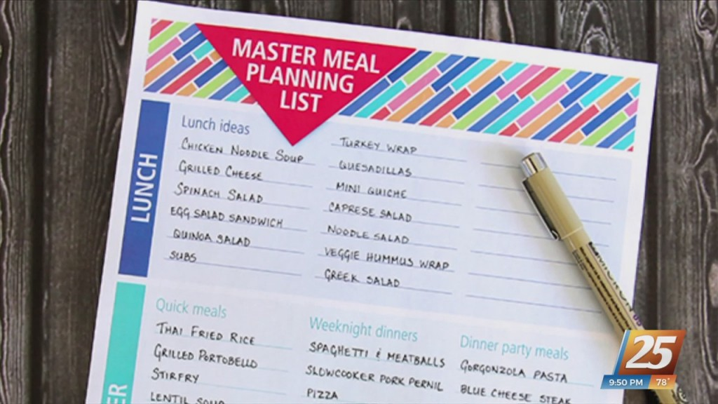 Mom To Mom: Simplify Meal Planning