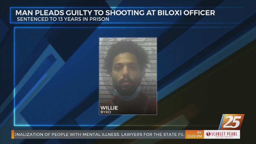 Man Pleads Guilty To Shooting At Biloxi Officer