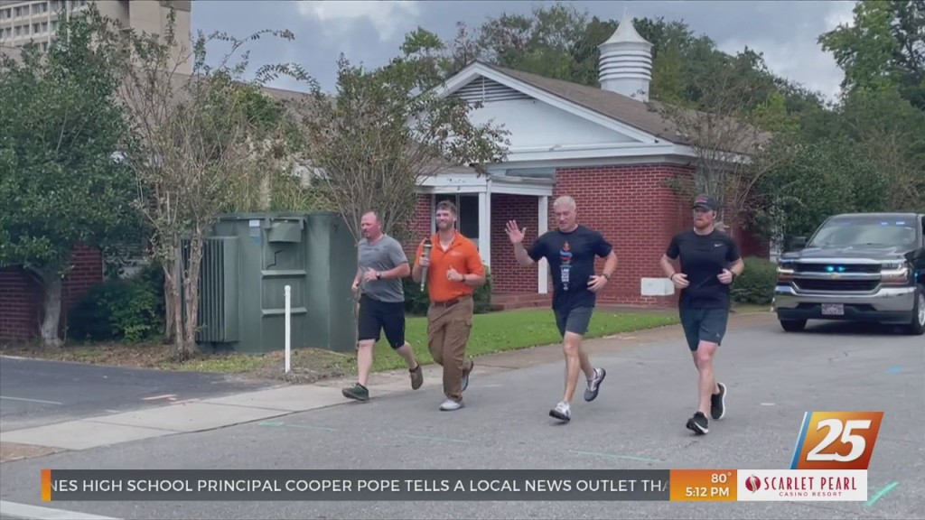 Jackson County Law Enforcement Participate In Special Olympics Torch Run