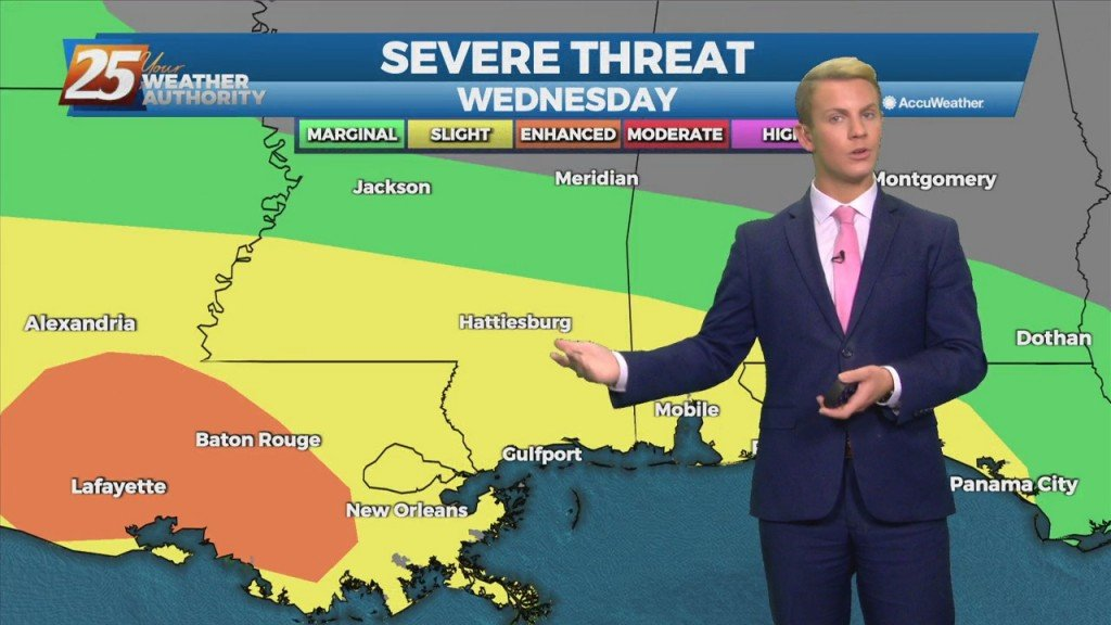 """10/27 – Brantly's """"evening Severe Weather Threat"""" Wednesday Forecast"""