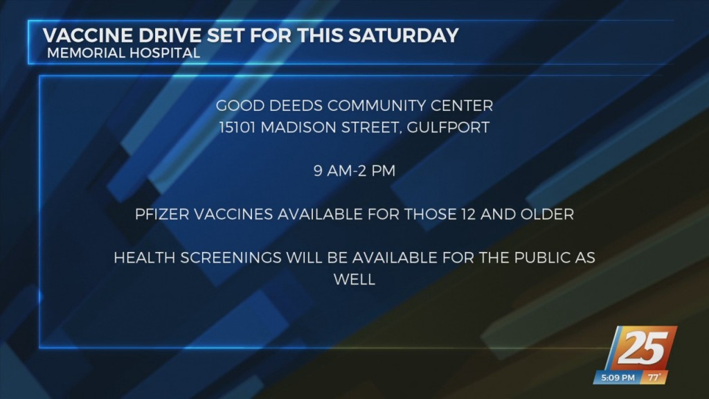 Memorial Hospital Teaming Up With Local Organizations To Hold Covid 19 Vaccine Drive