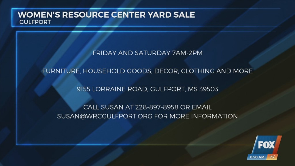 Women's Resource Center Holding Yard Sale This Weekend