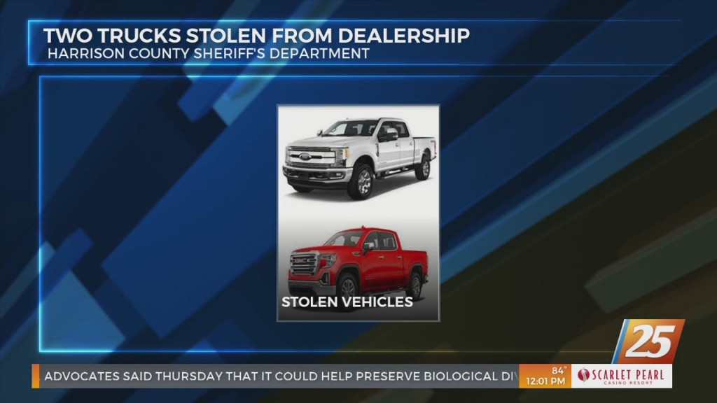 Two Trucks Stolen From Local Dealership In Harrison County