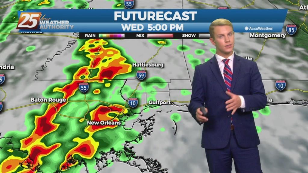 "10/26 – Brantly's ""sunny Today, Stormy Tomorrow"" Tuesday Morning Forecast"