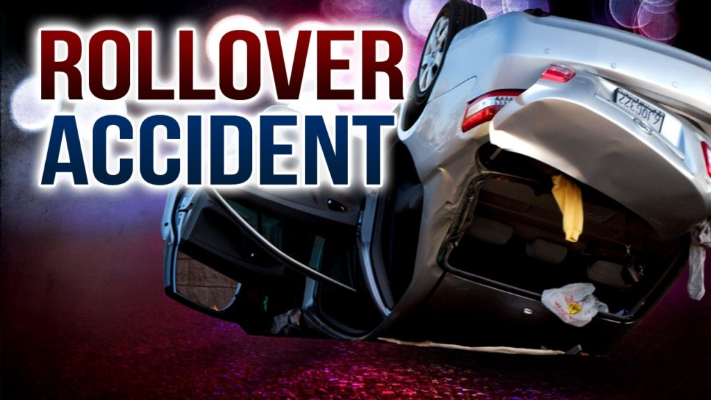Two teenagers hospitalized in rollover collision on SR 395, south of Blue Bridge