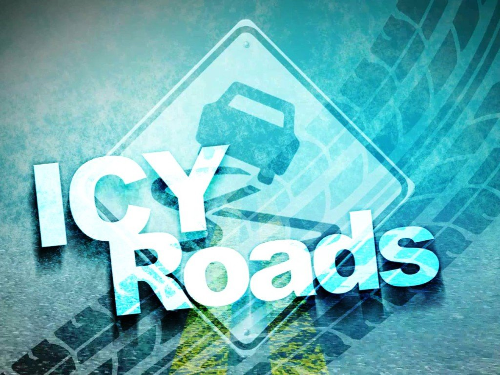 Icy roads make for a slick morning commute
