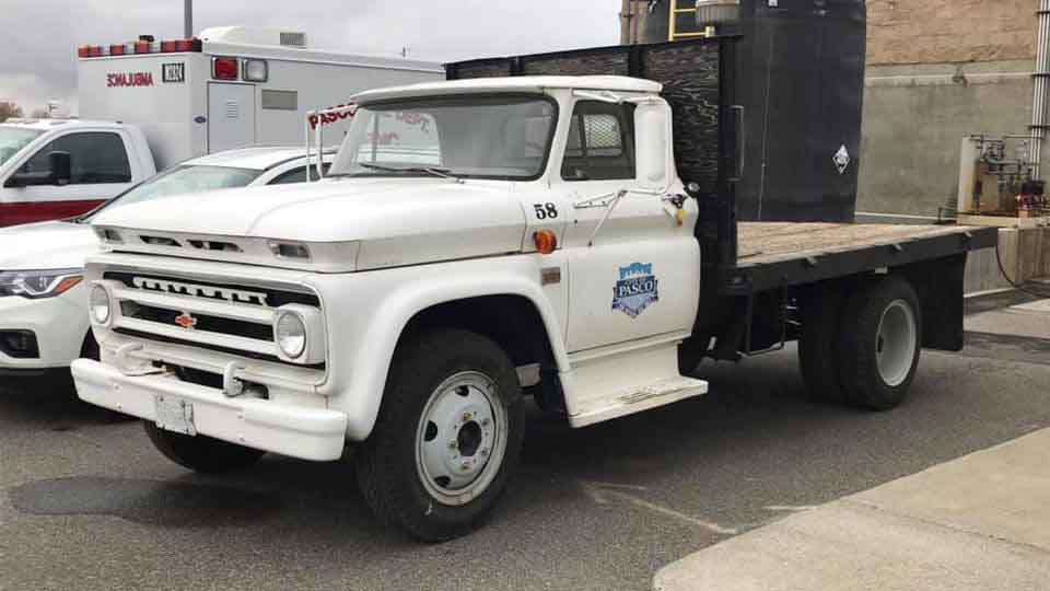 The City of Pasco still uses a Chevy truck purchased back in 1966