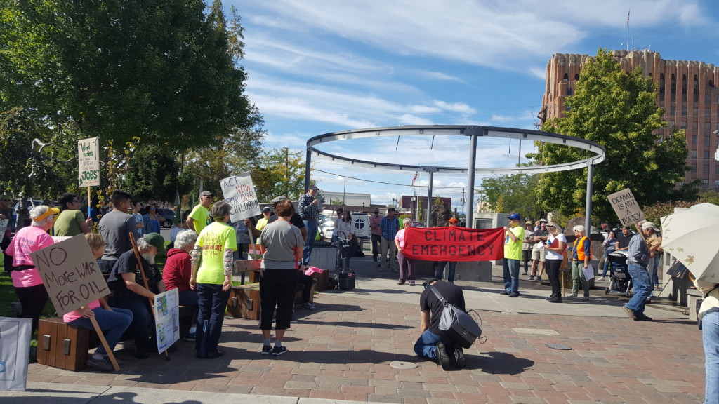 Community members rallied in Yakima for global climate strike