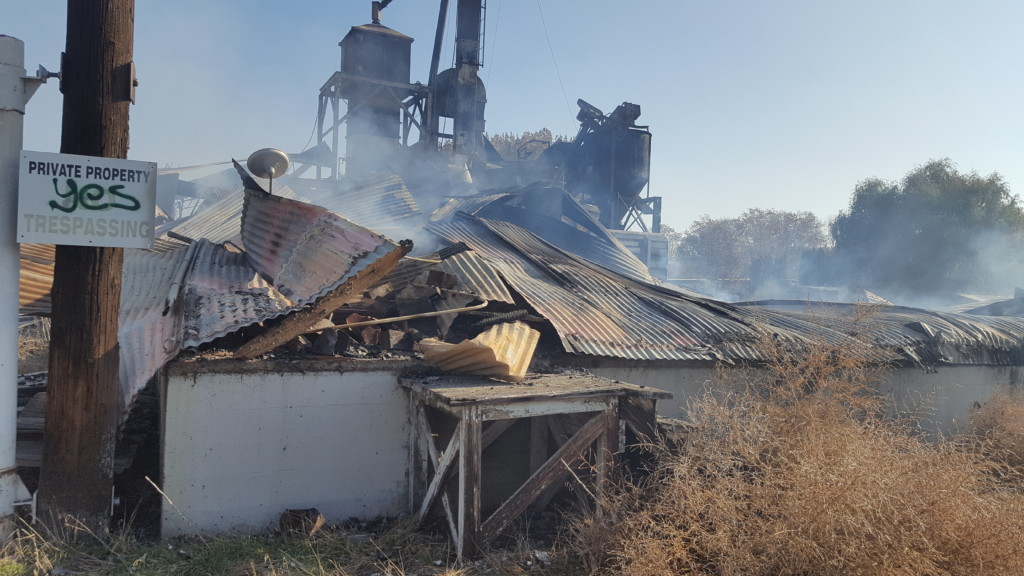 Firefighters worked through the morning to put out old grain mill fire in Granger