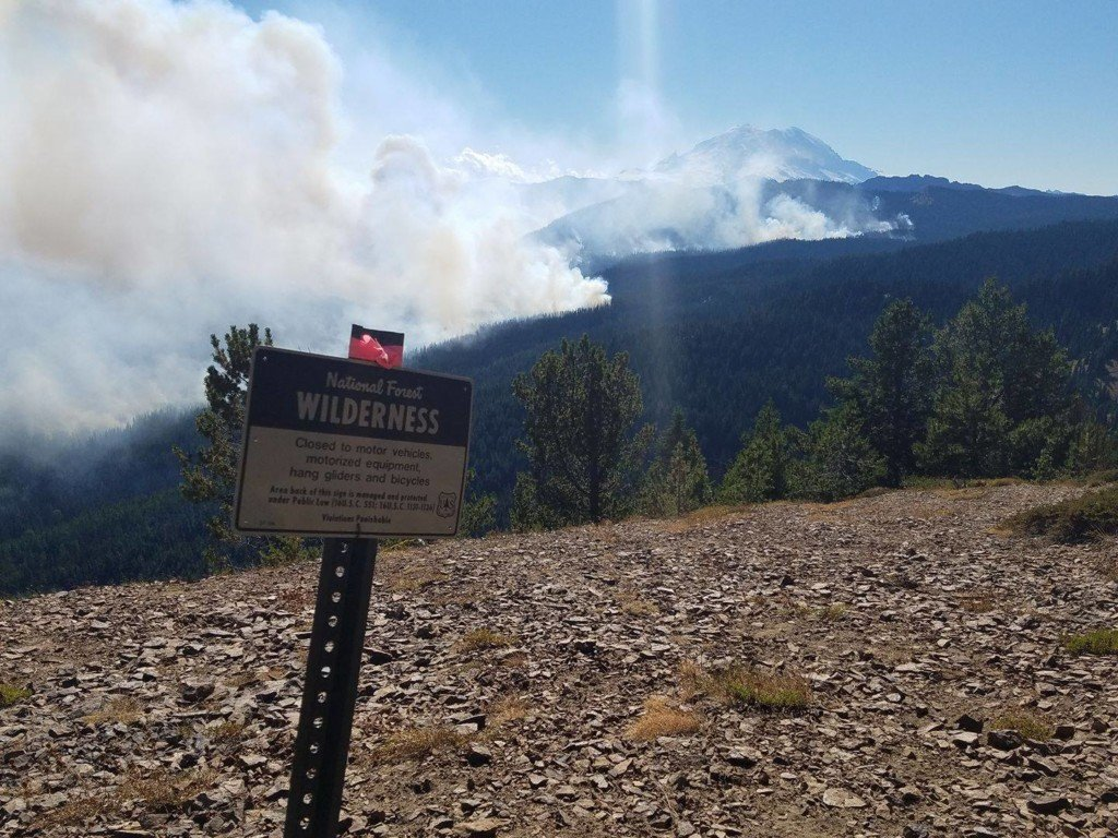 Norse Peak fire rages on this morning
