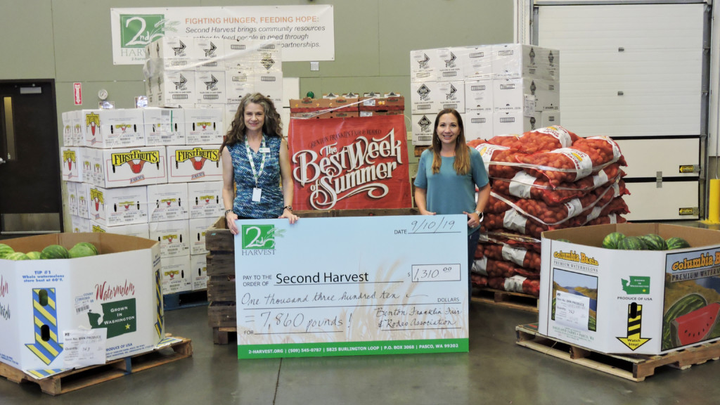 Benton Franklin Fair donates 7,860 pounds of food to 2nd Harvest Tri-Cities