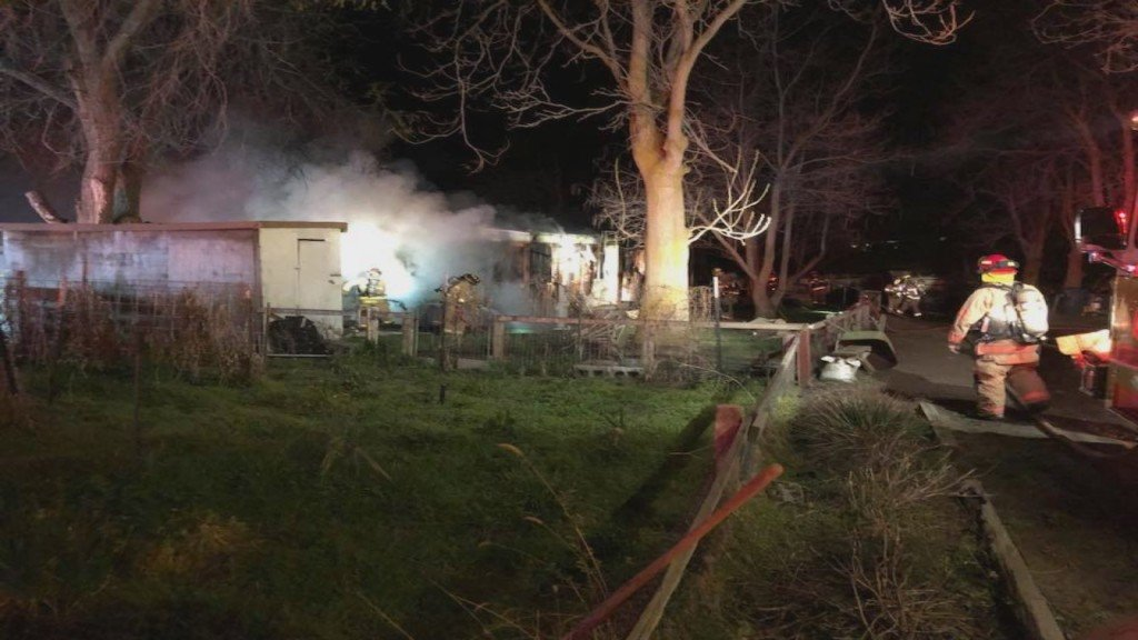 Trailer fire leaves one person homeless in Finley