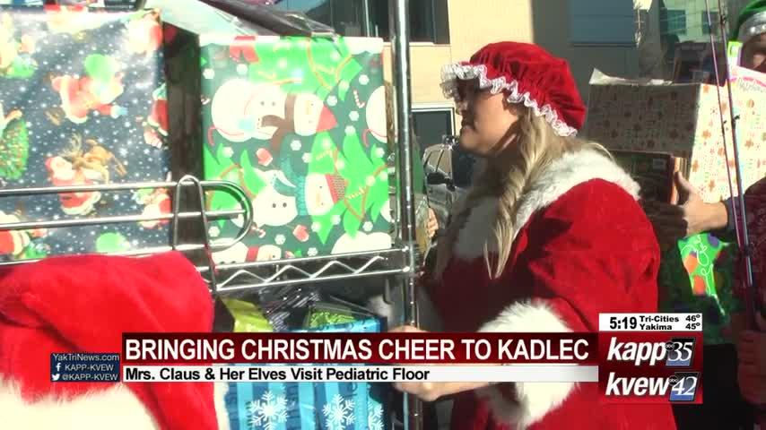 Mrs. Claus and her assistants bring Christmas cheer to kids at Kadlec
