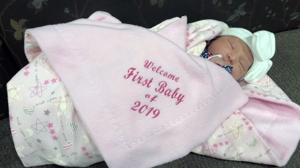 Tri-Cities' first baby of 2019 is a girl