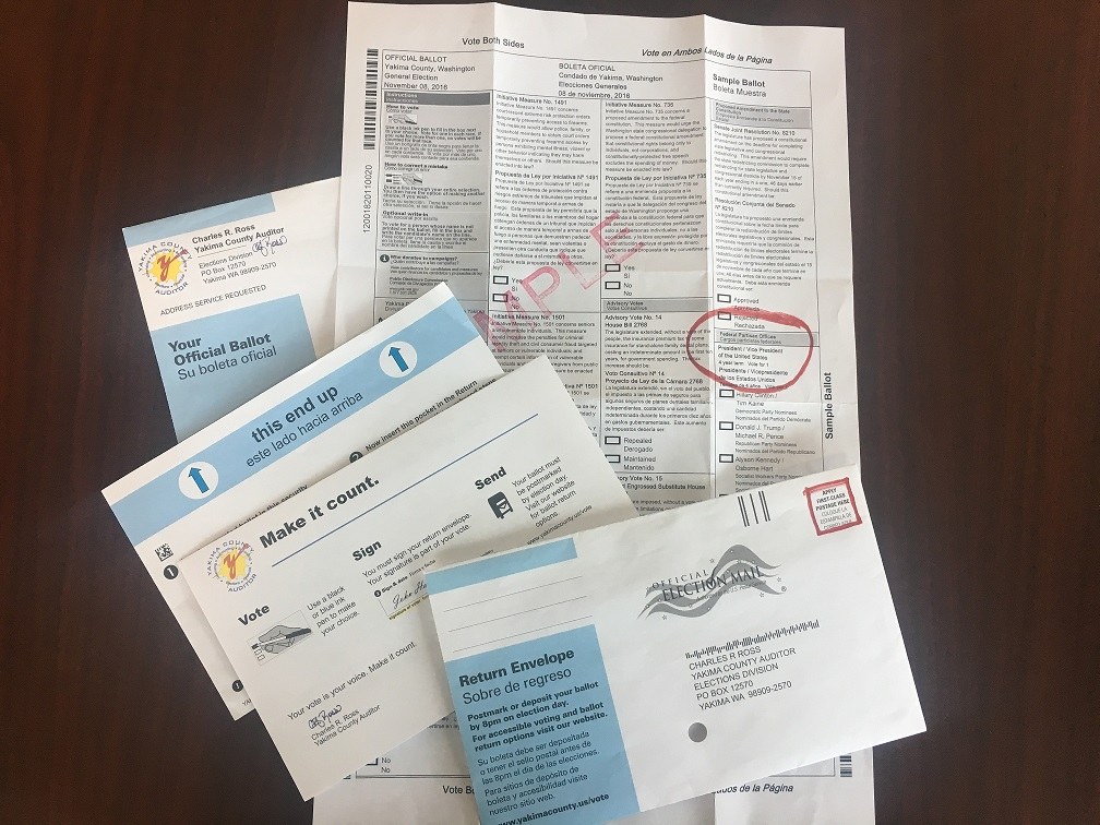 picture of ballots