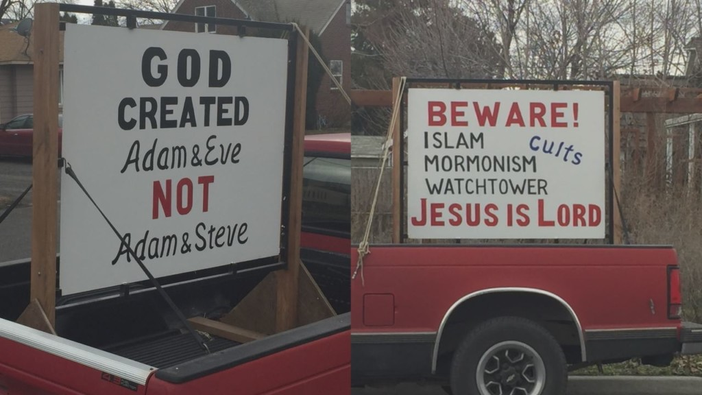 Prosser school bus driver facing backlash for religious signs