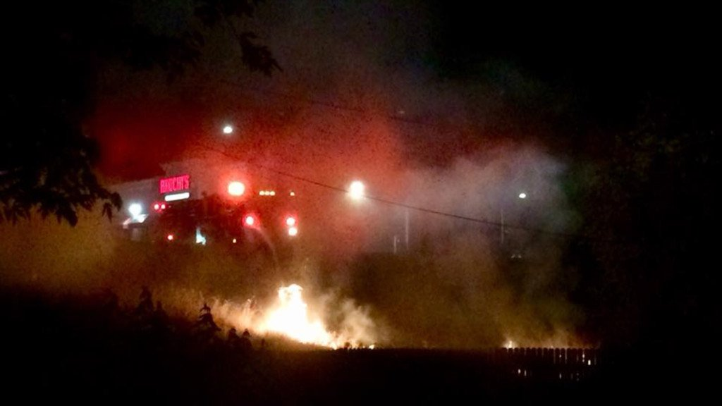 Brush fire behind Bruchi's suspected to be arson