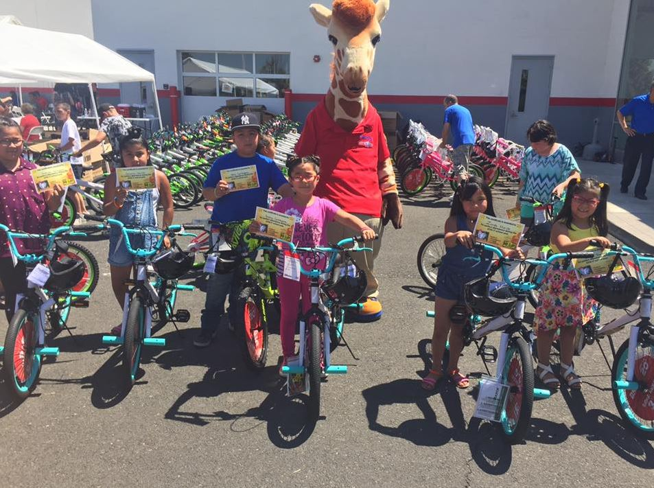 Bud Clary Toyota of Yakima supports student attendance with bicycle give away