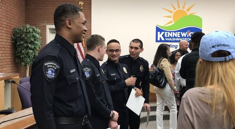 Kennewick Police Department welcomes four new cadet officers