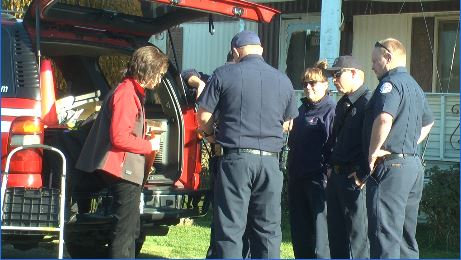 Mobile home park residents receive new smoke alarms