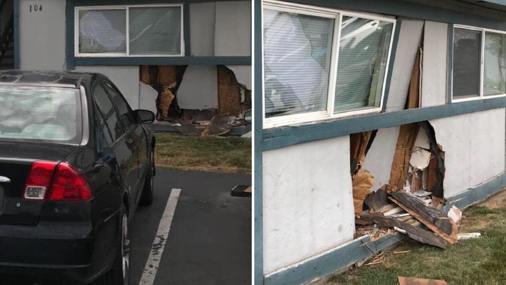 Car crashes into Kennewick apartment