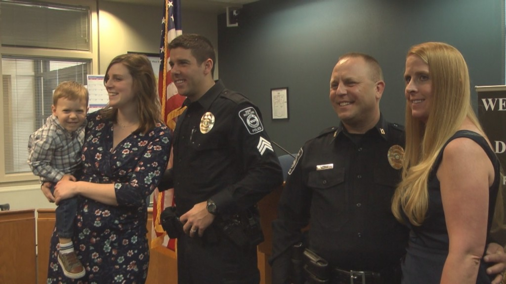 Two police officers promoted in ceremony in West Richland