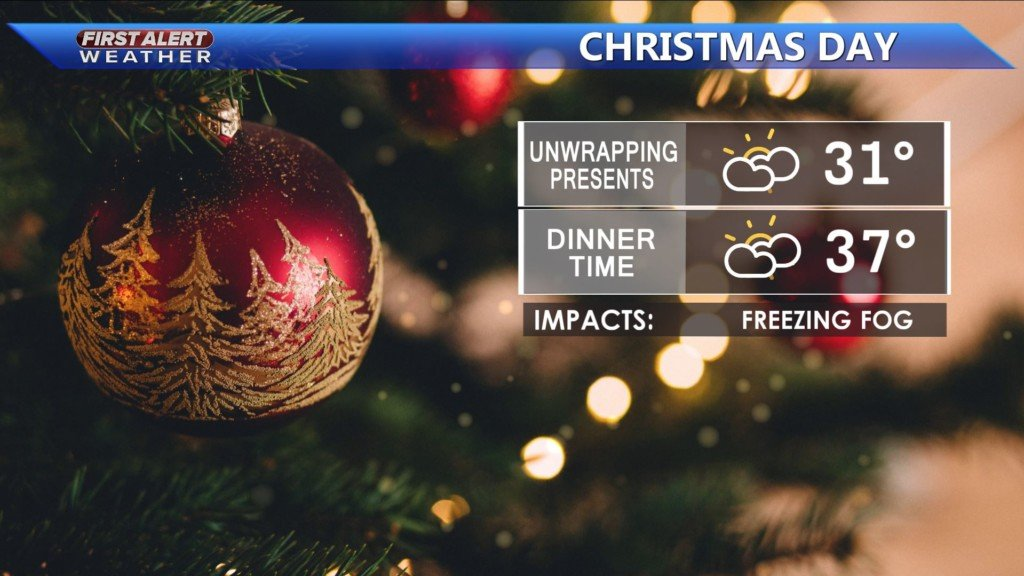 Cloudy and cold Christmas Day PLUS: Active weather returns this weekend -Kristin
