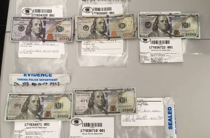 Yakima PD warns business owners about surge of counterfeit cash