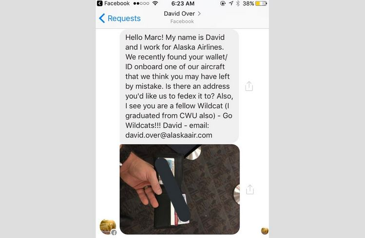 CWU alum in Atlanta returns wallet to student traveling from Ellensburg