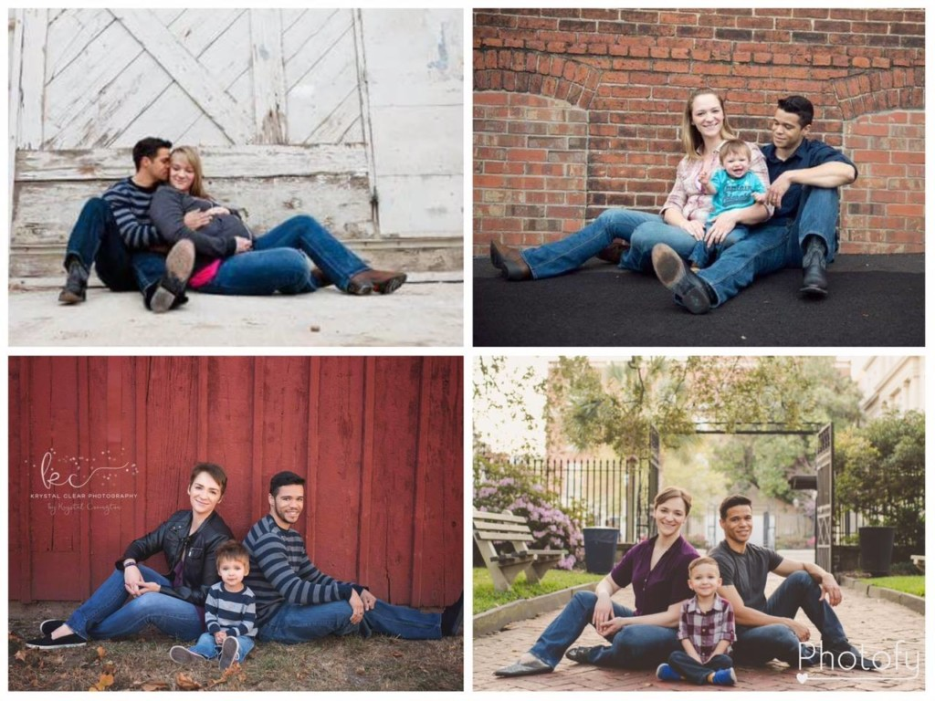 Divorced parents take family photo with their son every year, post goes viral
