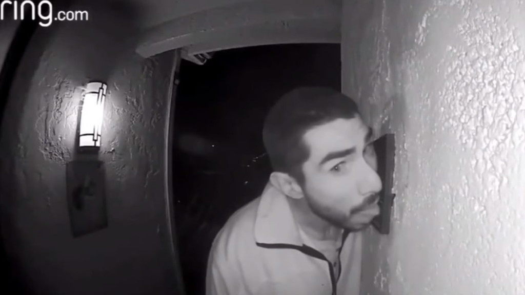 California man caught on camera licking doorbell for hours