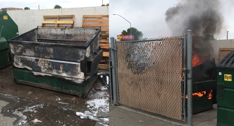 Police help pregnant woman get housing after dumpster fires
