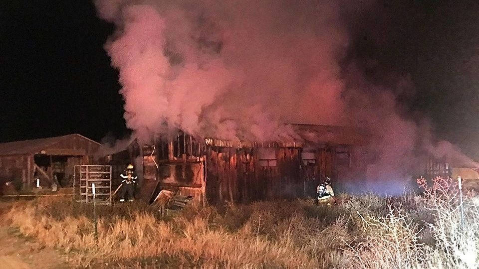 Nearly 2,000 chickens died in a fire in Grant County