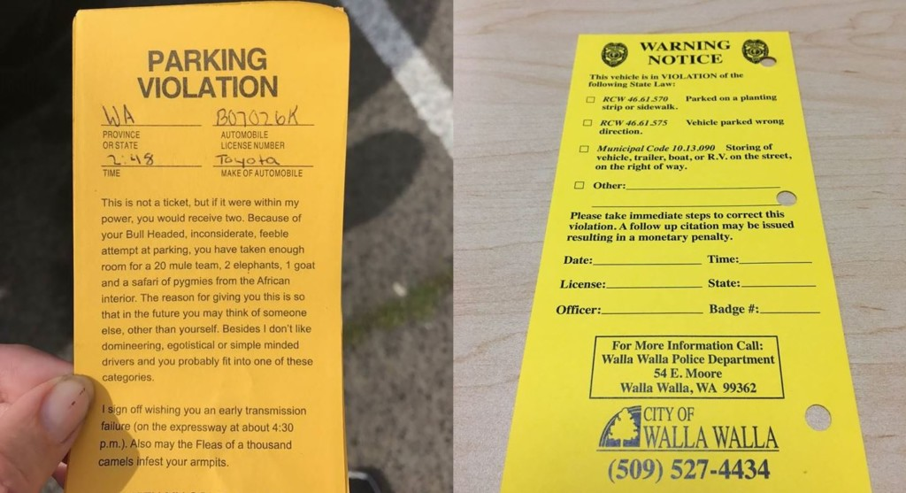 Walla Walla police say to watch out for fake parking tickets
