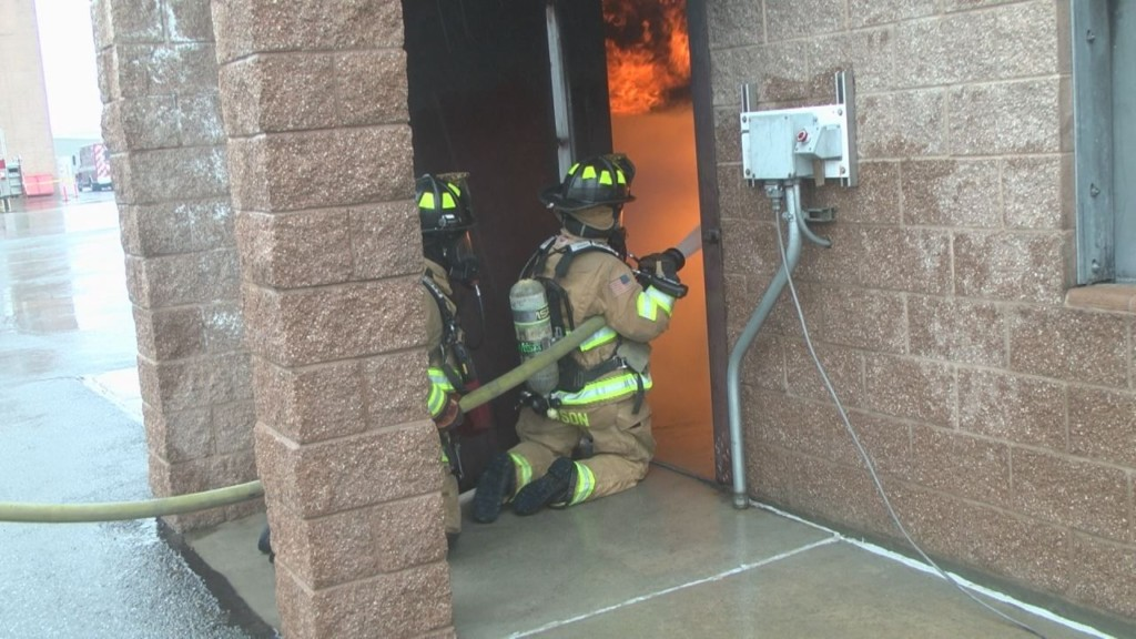 Annual Fire Ops Training shows daily work of a firefighter
