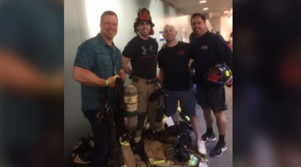 Local firefighters climb 69 flights of Seattle stairs to raise money for cancer research