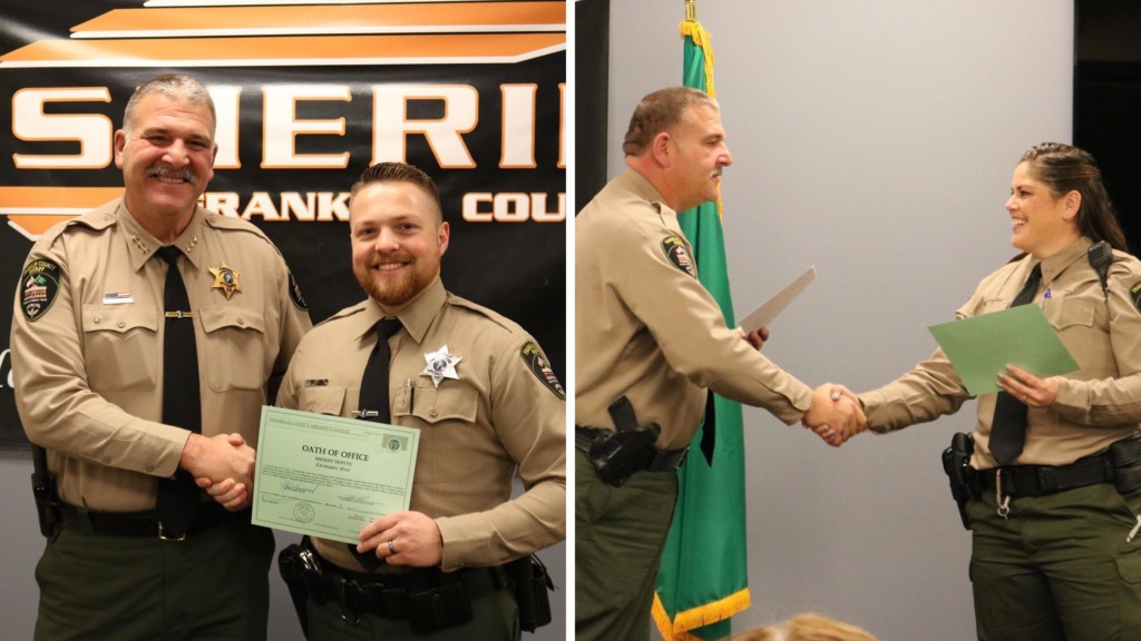Franklin County Sheriff's Office swears in new deputy, promotes another