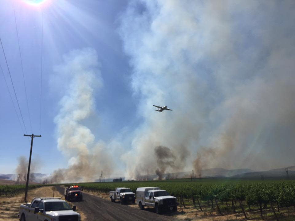 UPDATE: Wildfire near Hanford Reservation only 30% contained