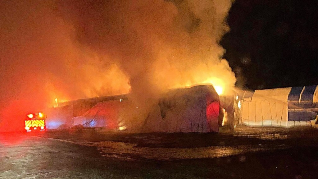 Grant County firefighters respond to haystack fire