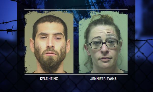Kyle Heinz and Jennifer Evans: Criminal couple — both with big rap sheets — on the run