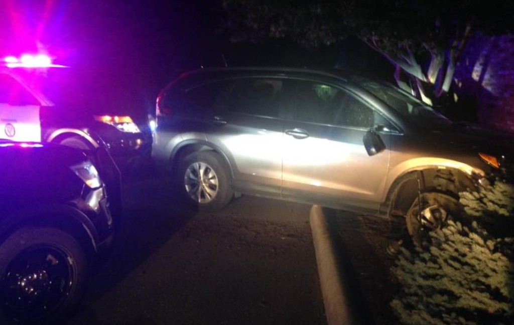 Police use spike strips to stop woman who crashed into several cars
