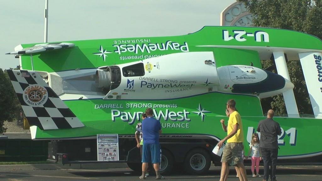 Hydroplanes displayed at Columbia Center Mall in Kennewick