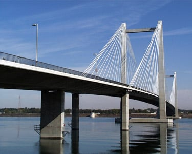 Woman sent to hospital after Cable Bridge collision