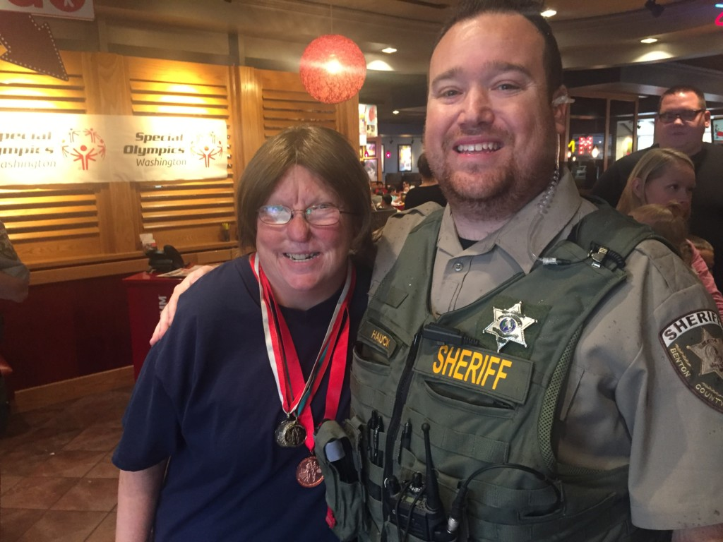 Special Olympic athletes receive support from local law enforcement